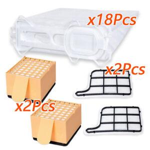 6 X Fragancia Kobold 135//136 // 135SC // VK135 // VK136-2 X Filtro de Higiene Tuneway Juegos de Accesorios para Vorwerk 2 X Filtro de Protecci/ón del Motor