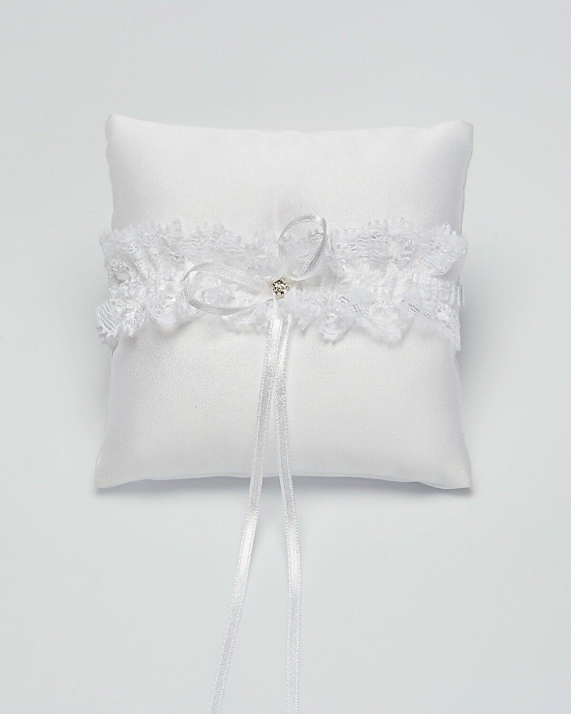 Matrimonio Wedding Portafedi Sposi Cuscino Porta Fedi Bianco Decorazione FIORI