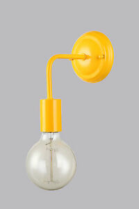 Applique moderno minimal art giallo vintage camera salone for Applique camera bambini
