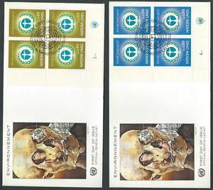 1972 Nazioni Unite Onu Ginevra Fdc Ambiente Quartina No Timbro Arrivo - V1 Nettoyage De La Cavité Buccale.