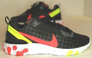 best sale no sale tax cheap prices Details about Nike React Element 55 Black Flash Hyper Crimson Volt Men's  CJ0782-001 Mens 11