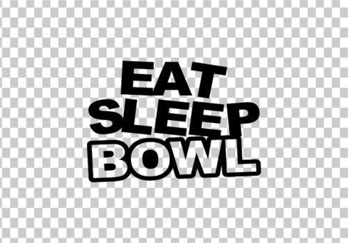 EAT SLEEP BOWL VINYL STICKER