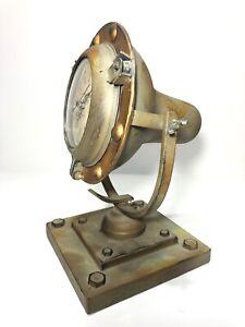 Handcrafted-Industrial-Table-Desk-Clock-W-Hidden-Secret-Compartment-Repurposed