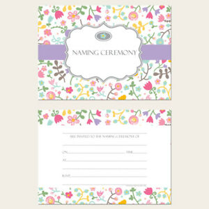 Details about Naming Ceremony Invitations - Flower Mix - Pack of 10