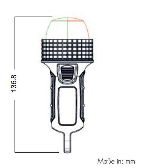 Aqua Signal Serie 27 Signallaterne weiß Batterie mit Saugfuß Positionslaterne Positionslaterne Saugfuß acad26