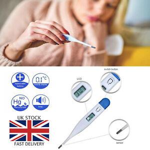 Digital-LCD-Cuerpo-Termometro-Bebe-Adulto-Ninos-Seguro-oreja-Boca-Temperatura-medica