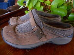 Merrell-Womens-Moc-Brown-Slip-on-Stone-sz-8-USA-Leisure-Comfort-Clog-USED