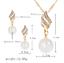 Elegante Set de Joyas Conjunto Místico Pendientes y Collar Perla Mujer Regalo