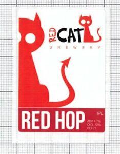 UKRAINE-Micro-Red-Cat-Brewery-RED-HOP-Cat-beer-label-C2240-042