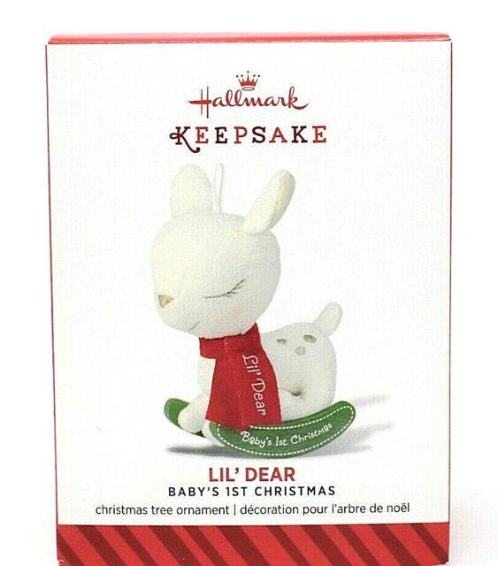 RARE NEW 2014 HALLMARK LIL' DEAR BABY'S FIRST CHRISTMAS ...