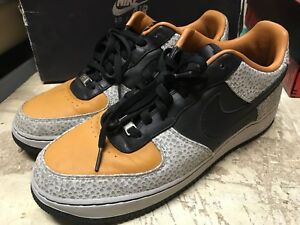 USED MENS NIKE AIR FORCE ONE 1 LOW SUPREME CARROT BLACK 318776 801 ... 0d2c7dda3
