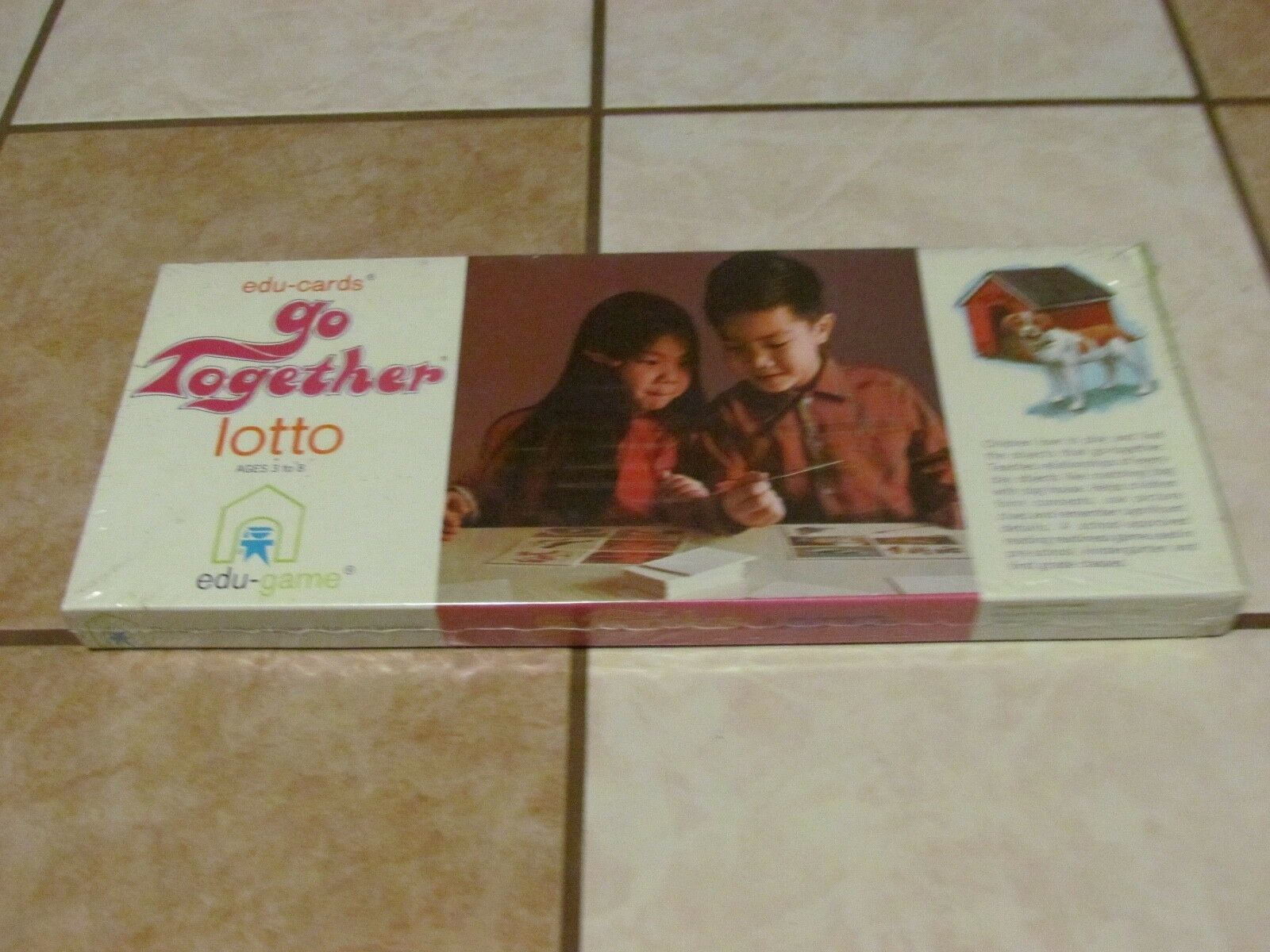 NEW SEALED EDU-CARDS GO TOGETHER LOTTO 1970 EDU-GAME RARE VINTAGE LEARNING