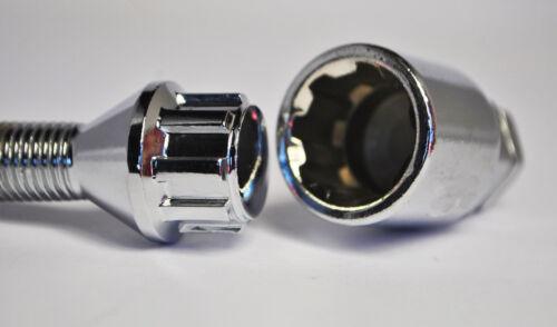 Pernos de rueda cónica y armarios Zinc hilo de 34mm 20 X M12 X 1.25