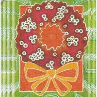 8 Absorbent Drink Coasters Christmas Spirit Designs - Wreath