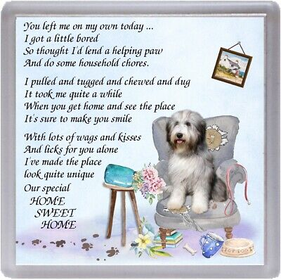 "Beagle Dog Coaster /""HOME SWEET HOME Poem ..../"" Novelty Gift by Starprint"