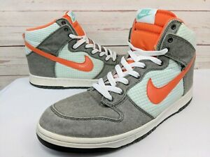 check out 1fd3a 6f8e2 Image is loading Nike-Dunk-High-Top-Dark-Army-Orange-Blaze-