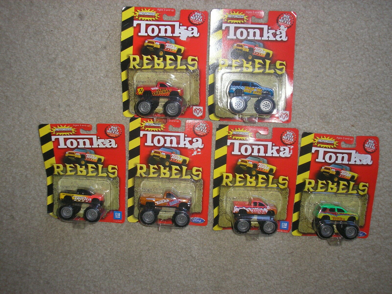 barato y de alta calidad Nuevo Lote De 6 6 6 Tonka rebeldes Die Cast Metal Motorizado no hay baterías necesarias  alta calidad