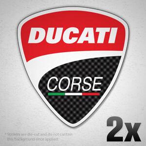 Details About 2x Ducati Corse Logo Vinyl Sticker Decal Car Bike Moto Gp Racing Team Race