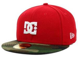 4cb52f1a3 Details about DC Shoes Dynasty SE NE New Era 59Fifty Mens Red Camo Fitted  Hat Cap New NWT
