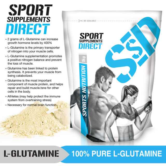 1KG 100% MICRONISED L-GLUTAMINE - 2 X 500G GLUTAMINE