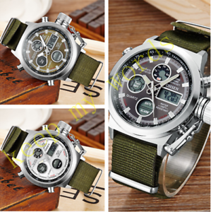 OHSEN-Fashion-Mens-Military-Digital-amp-Analog-Nylon-Band-Army-Sport-Watch-Quartz
