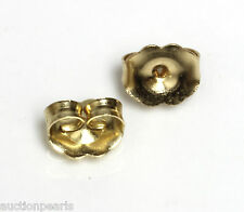 14KT yellow Gold 6mm Push On Earrings Replacement Butterfly Backs Backings