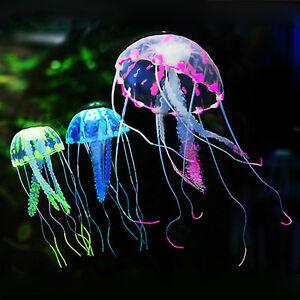 Artificial Plants Glowing Effect Jellyfish Aquarium Decor Ornament For Fish Tank
