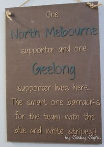 North-Melbourne-Kangaroos-amp-Geelong-Cats-Supporters-Couples-Footy-Sign
