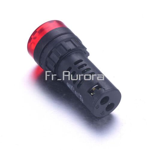 12//24//110//220V AD16-22SM LED Flash Alarm Indicator Signal Lamp with Buzzer