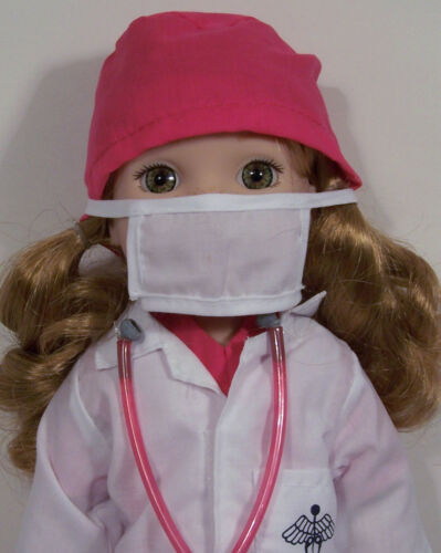 """Debs 8pc Doctor Scrubs Uniform Doll Clothes For 14/"""" Girl Wellie Wisher Wishers"""
