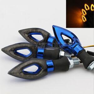 4x LED Turn Signals Light Blue For Yamaha YZF R1 R1S R6 R6S FZ FZ1 FZ6 FZ6R FZR