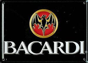 Bacardi-Ls-Miniatur-Metall-Schild-Metall-Postkarte-110mm-x-80mm-hi