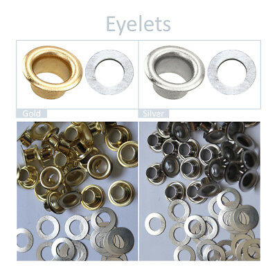 Eyelets Grommets with Washers Leather Craft Banner Belts Cards Bag Canvas 6.5mm