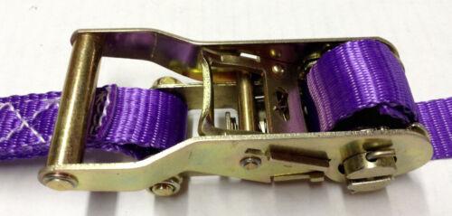 """1/""""x10/' Heavy Duty Ratcheting Tie Down Set Color Purple 4pcs"""