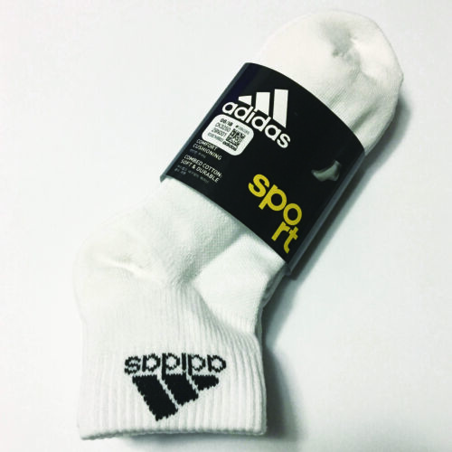 ADIDAS Men's Sport Half Pile Cushion Low Cut Socks 3Pairs White Gray Black KOREA