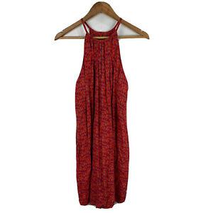 Totem-Womens-Dress-Size-Small-Petite-Red-Sleeveless-Blouson-Round-Neck