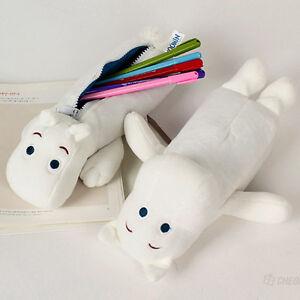 BNWT Cute Moomin Plush type Pencil Case Pen Bag Mumin Troll Hippo Stationery