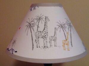 Owen safari fabric nursery lamp shade m2m pottery barn kids image is loading owen safari fabric nursery lamp shade m2m pottery aloadofball Image collections