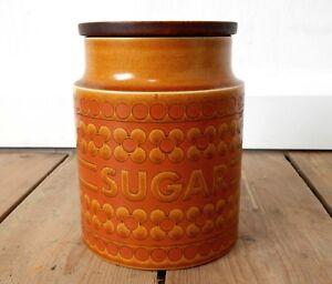 Vintage-1970s-Hornsea-Saffron-Sugar-Canister-Jar-Retro-Made-in-England