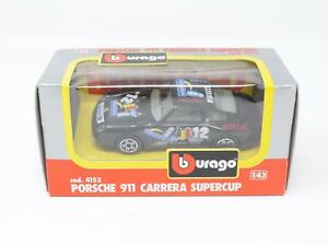 1-43-B-BURAGO-DIE-CAST-METAL-MODEL-4153-PORSCHE-911-CARRERA-SUPERCUP-QU3-038