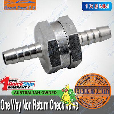 "8mm 5//16/"" Fuel Non-Return One Way Check Valve Petrol Diesel Oil Water Aluminum"
