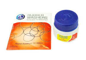 20ml-Silicon-Grease-amp-32-50-mm-Pack-of-Washers-Gaskets-Waterproofing-Watchmaker