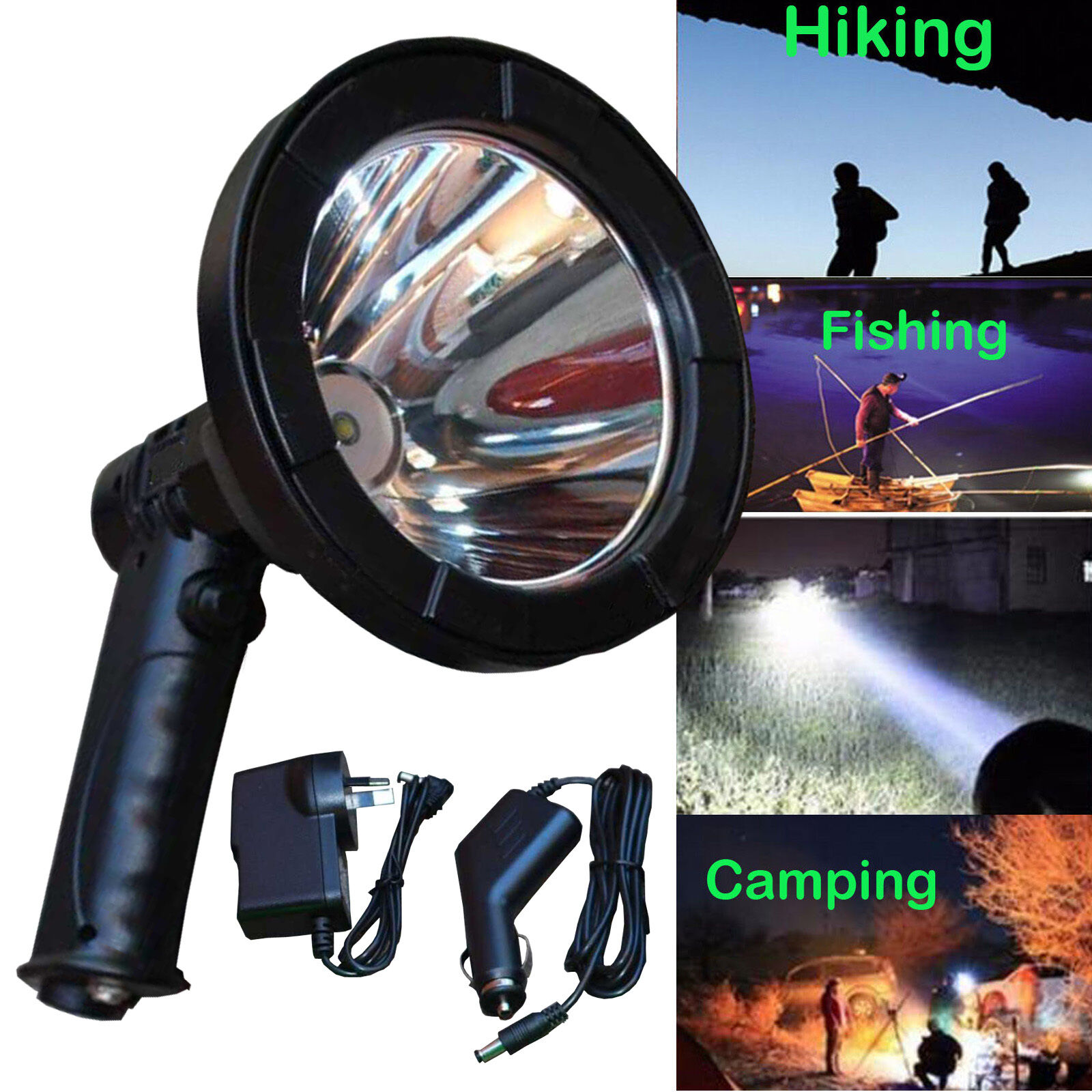 100W 125mm CREE LED 12v Spotlight Lamp Torch Lamping Hunting Shooting Fishing