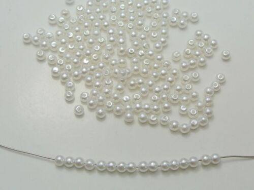 Craft DIY Pure White Faux Pearl Round Beads 3mm-20mm Imitation Pearl Beads