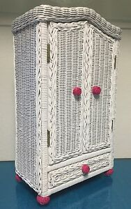Hot Pink White Rattan Closet For American Girl Dolls To