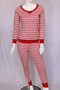 d45ff6a2ef Victoria s Secret Candy Cane Pajama Set Christmas Sleepwear Size M ...