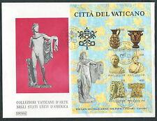 1983 VATICANO FDC ROMA FOGLIETTO COLLEZIONI USA I EMISSIONE - ED