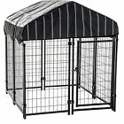 Lucky Dog Modular Pet Play Pen Welded Wire Heavy Duty Cage Fence Kennel ()
