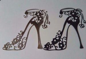Image Is Loading Ladies Stiletto Shoe Metal Die Birthday Card Making
