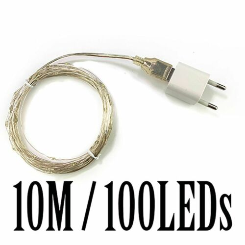 100m LED String Lights Waterproof Outdoor Street Holiday Wedding Decoration Lamp